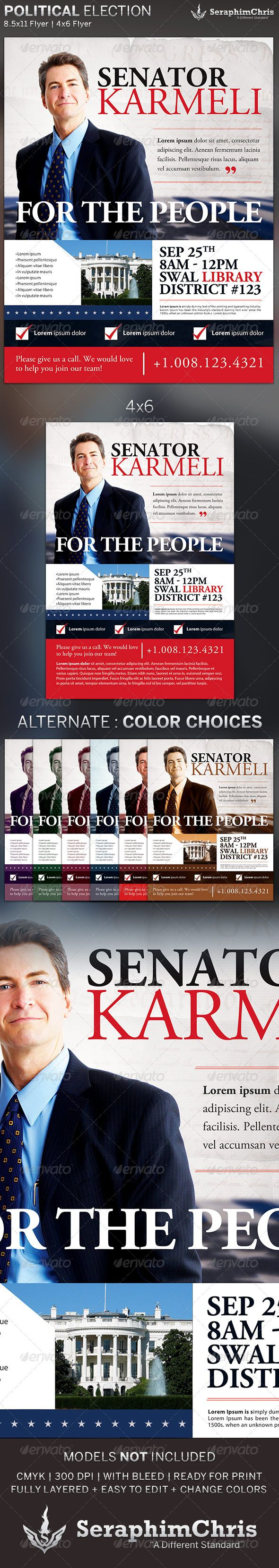 Political Election Flyer Template  Flyer Template Print