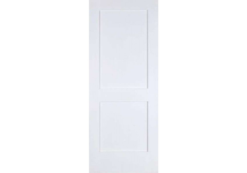 Elsh782fr 2 Panel Shaker Square Top Primed 20 Min Fire Rated Door 1 3 4 Eto Doors Fire Rated Doors Primed Doors