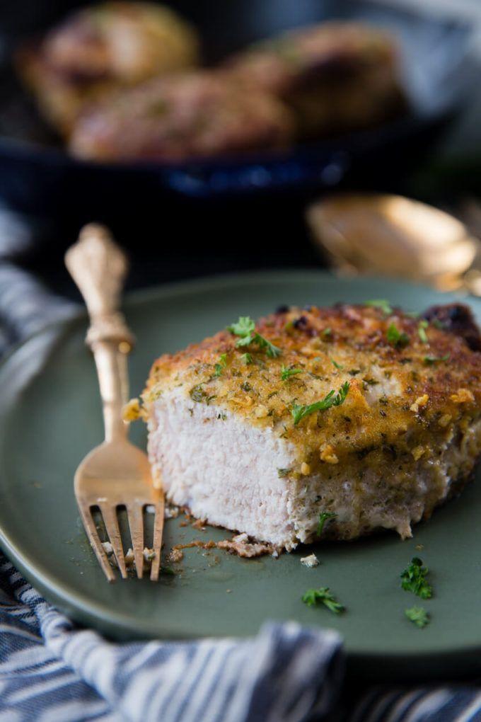 Italian Breaded Oven Baked Pork Chops #ovenbakedporkchops Italian Breaded Oven Baked Pork Chops #ovenbakedporkchops