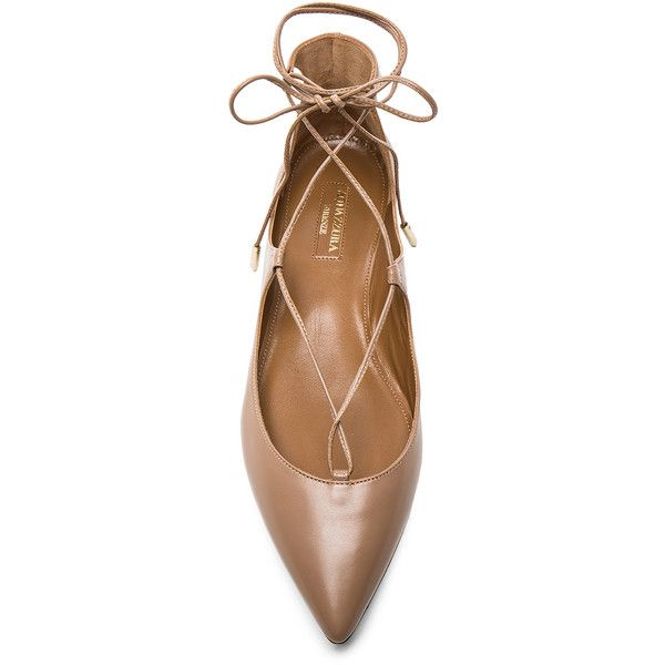 Aquazzura Christy Flats ❤ liked on Polyvore featuring shoes, flats, aquazzura, aquazzura flats, flat pumps, aquazzura shoes y flat heel shoes