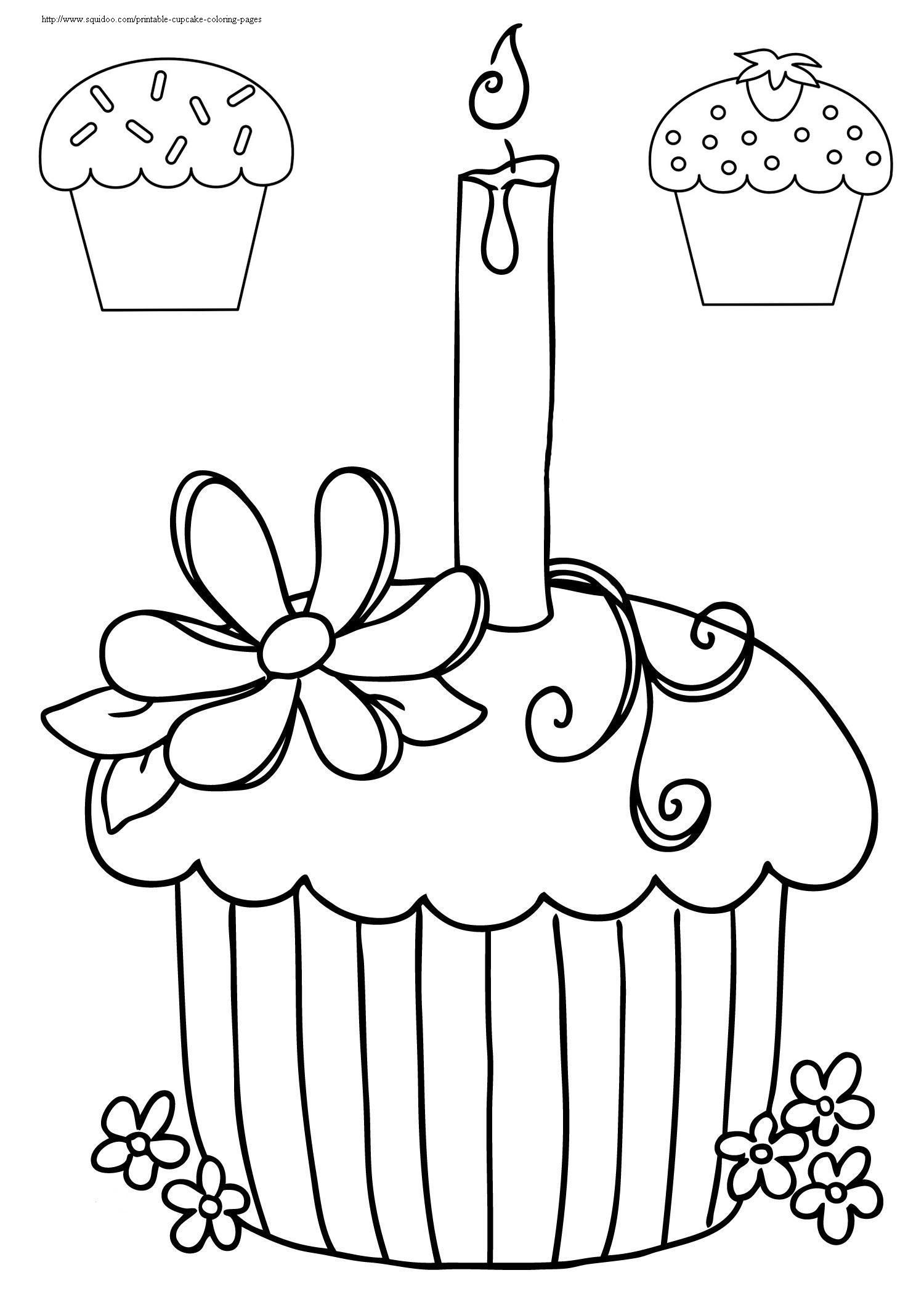 Printable Cupcake Coloring Pages | Adult Coloring Therapy ...