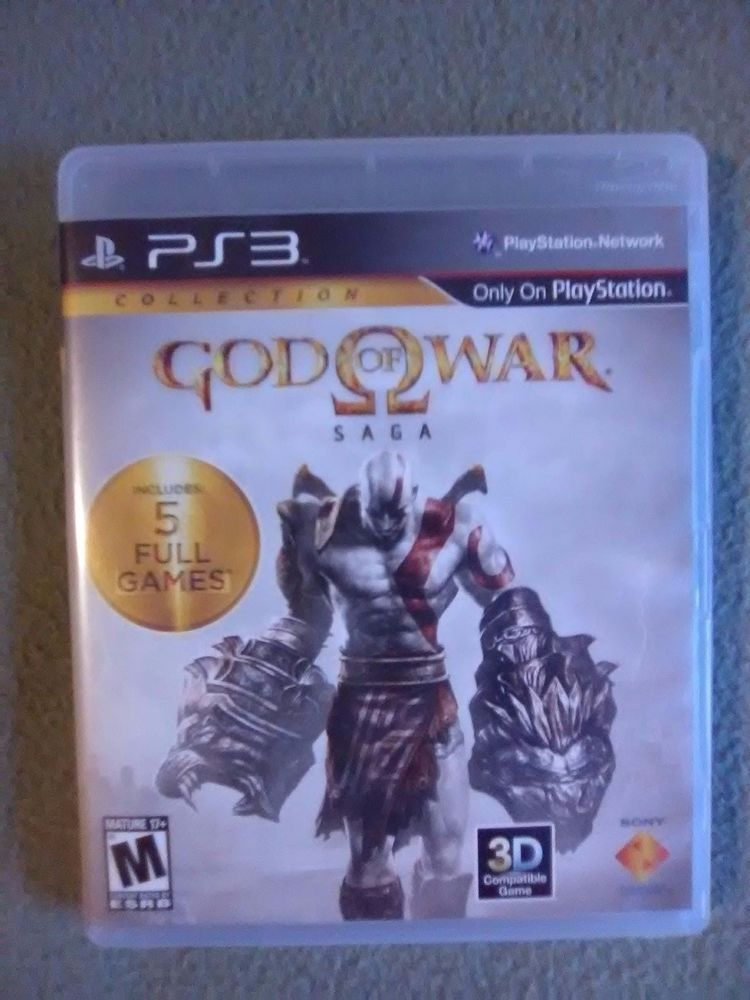 God Of War Saga Collection Game Ps3 Disc 1 Only Great Condition 3d Ships Fast Good Of War Jogos Ps3 God Of War