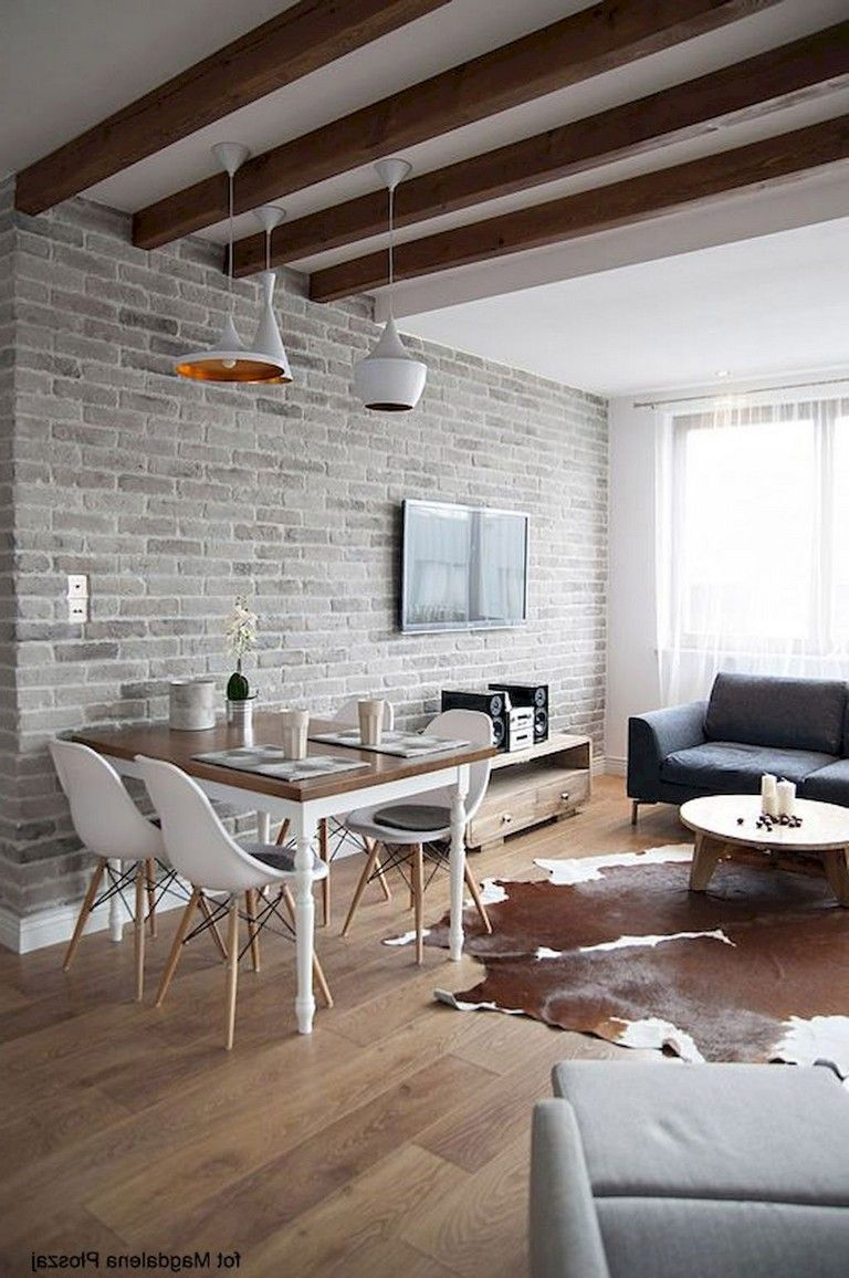 amazing living room with brick wall decoration ideas living