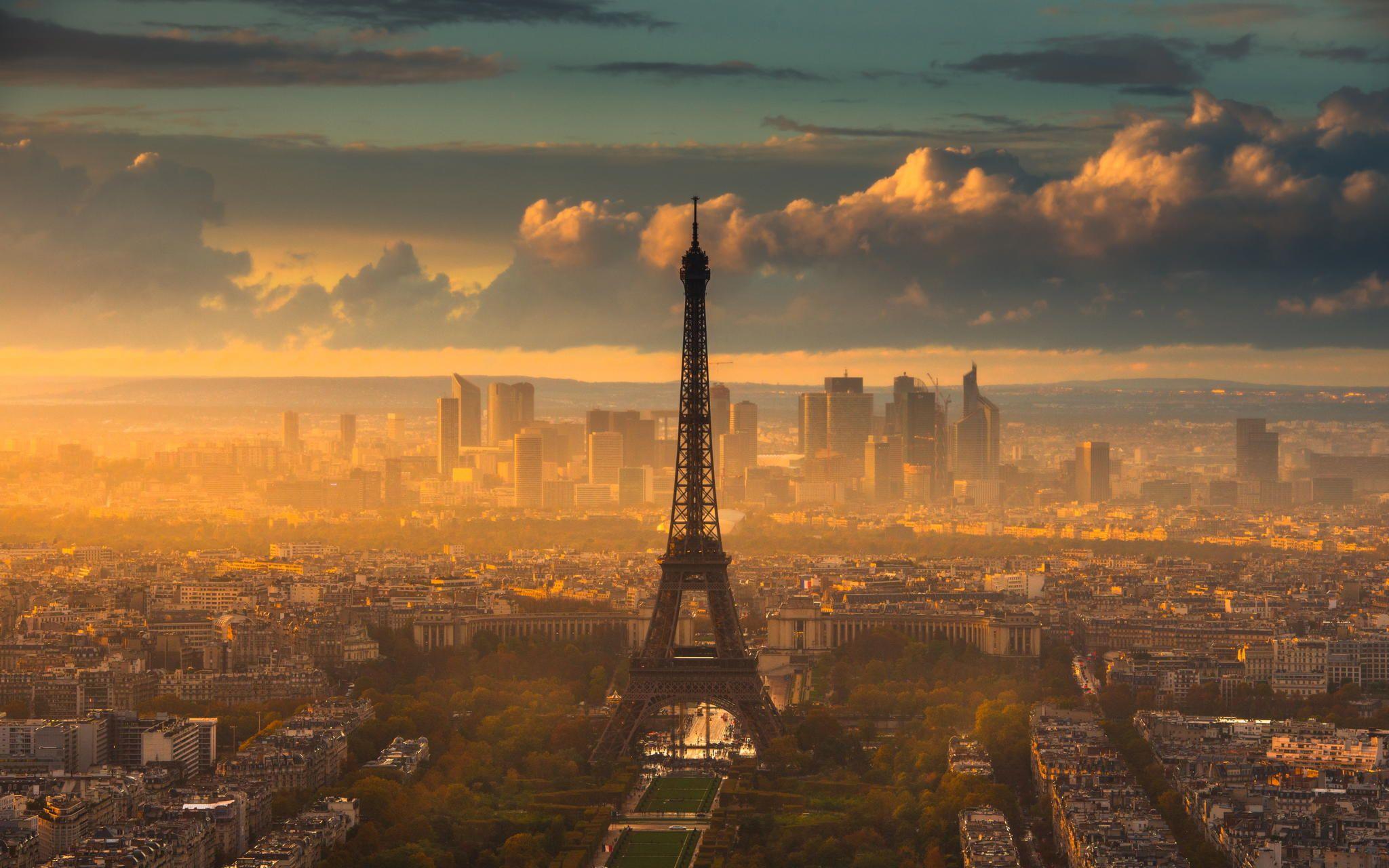 パリの日没