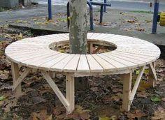 Round Gardens Full Circular Tree Bench With No Back Support In A Public Park Ideias De Jardinagem Quintais Jardim