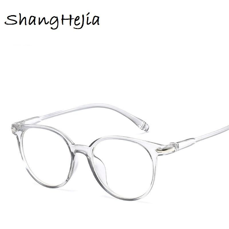ec235fb8364b 2018 Fashion Women Glasses Frame Men Eyeglasses Frame Vintage Round Clear  Lens Glasses Optical Spectacle Frame