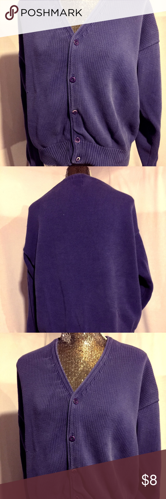 GAP Blue Cardigan Sweater | Royal blue cardigan, Cotton sweater ...