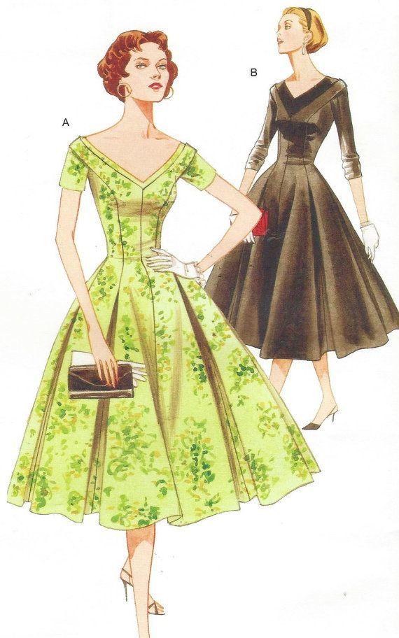 Vogue Sewing Pattern V2903 Womens 1950s Princess by CloesCloset ...