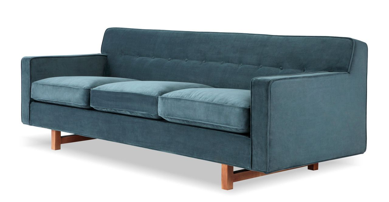 Fabric sofa green sofa modern furniture apt ideas midcentury modern jade