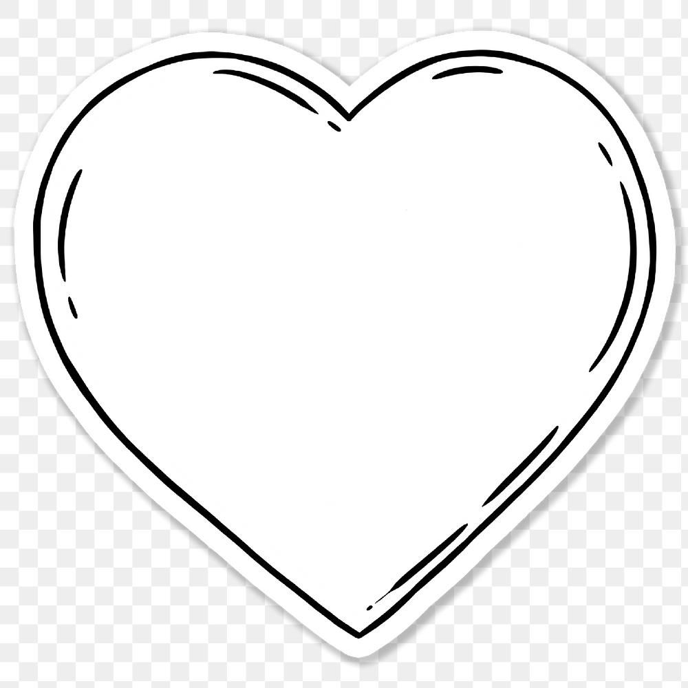 White Heart Sticker With A White Border Free Image By Rawpixel Com Noon Black And White Heart Heart Stickers White Heart