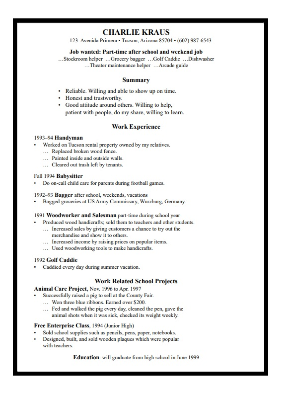 High School Resume Templates 12+ Free Printable Word