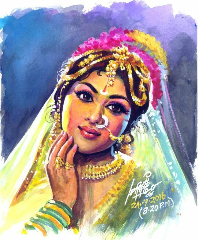 50 Most Beautiful Indian Paintings from top Indian Artists
