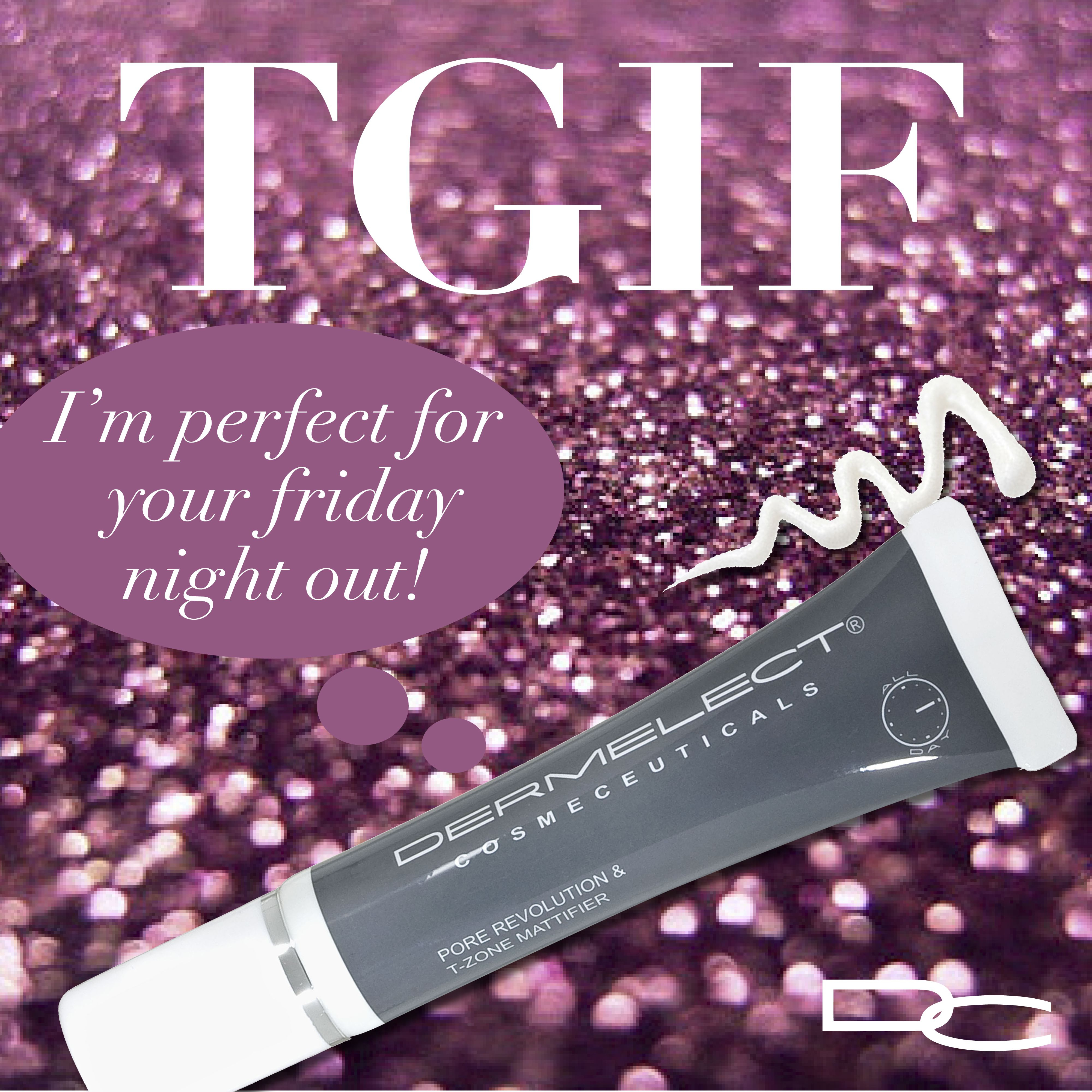 A perfect FNO (Friday Night Out) beauty tip: Pore Revolution & T-Zone Mattifier instantly mattifies shine, masks a breakout and clarifies large, black pores. Just drop it in your purse and go!