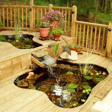 Creative garden ponds, fountains home Gardening \ Gardens
