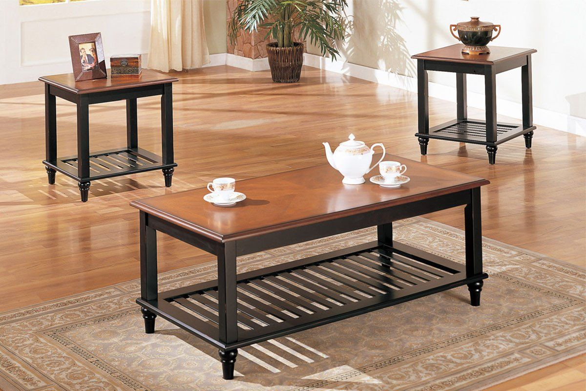 3 Pc Coffee Table Set Products Coffee Table End Table Set
