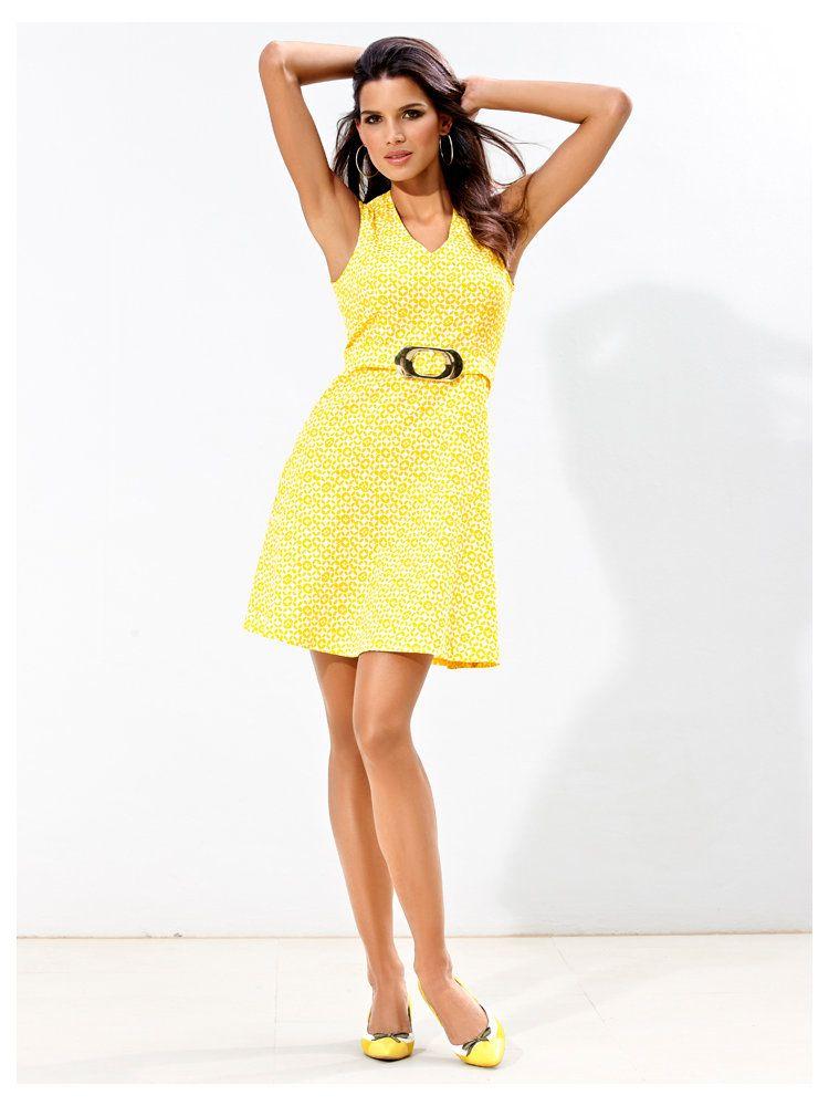 Tendance jaune ananas : Robe jaune de cocktail pour femme : on adore ...
