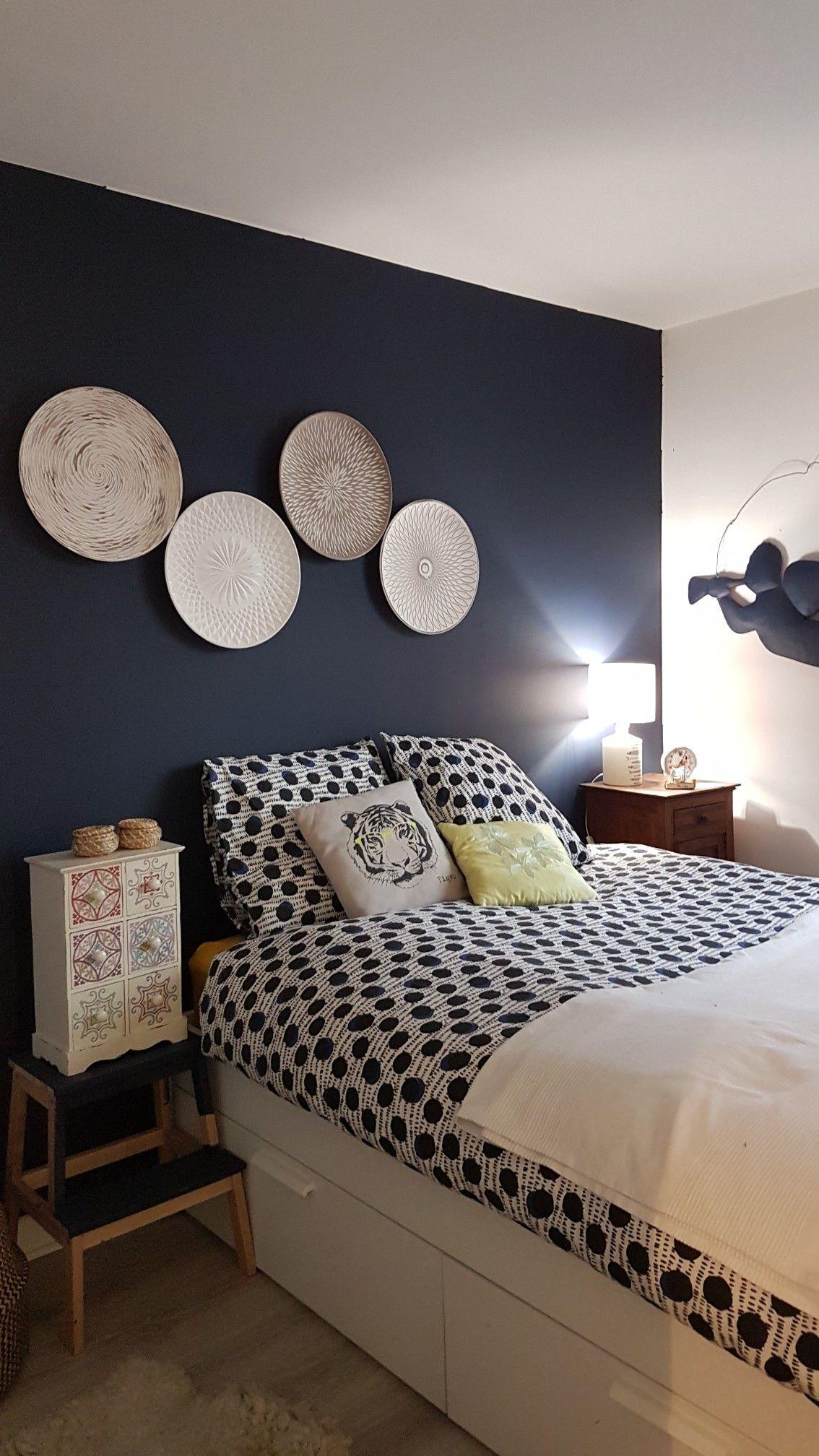 Chambre bleu éclipse #leroymerlin #stockomani #ikea #maisondumonde #laredoute