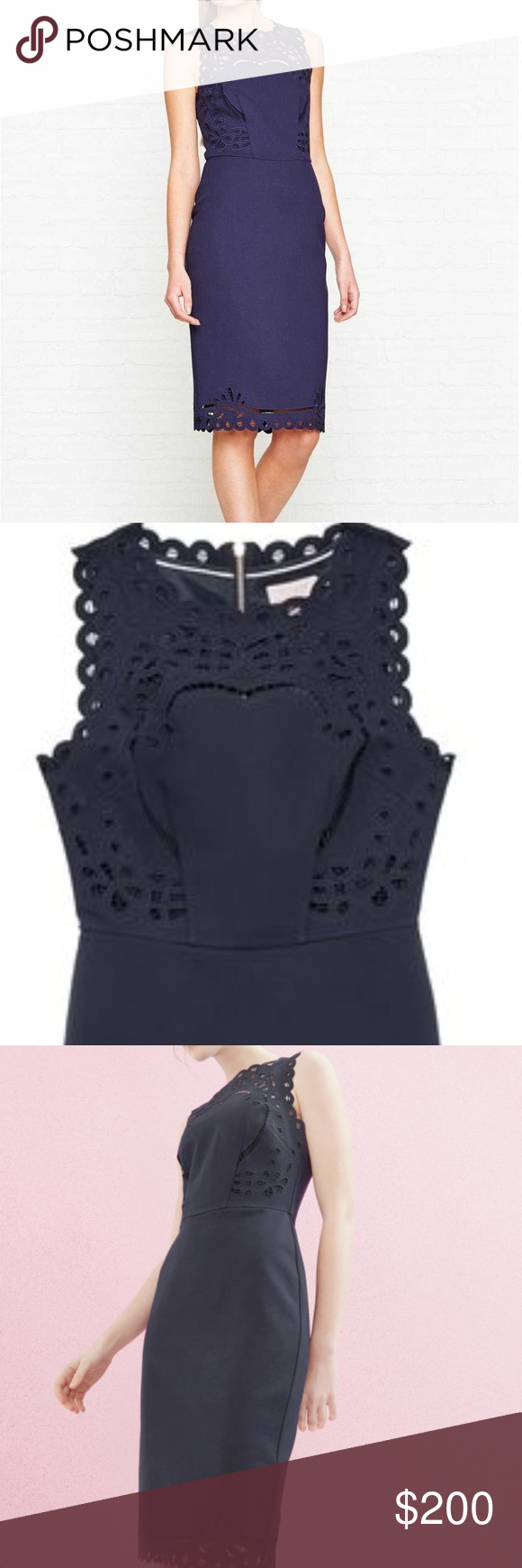 Ted baker cut out detail bodycon dress