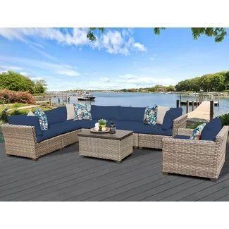 Outdoor Wicker Patio Furniture! We Love Wicker Furniture Outside On A  Patio, Balcony,