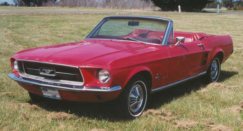 Red 1967 Mustang Convertible