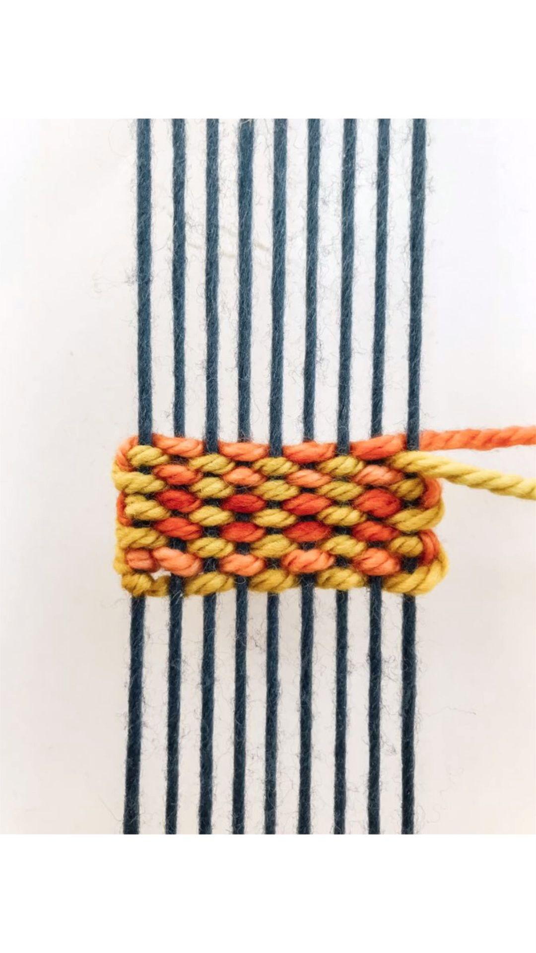 DIY Weaving Tutorial: Pick n pick Stripes #weaving