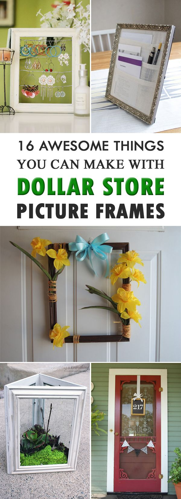 16 Awesome Things You Can Make With Dollar Store Picture Frames ...