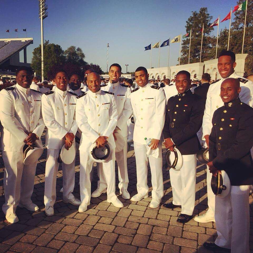 Positive young black men ready to serve their country as ...