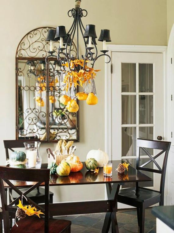Decorate Your Chandelier Fall Decorating Ideas Fall Diy