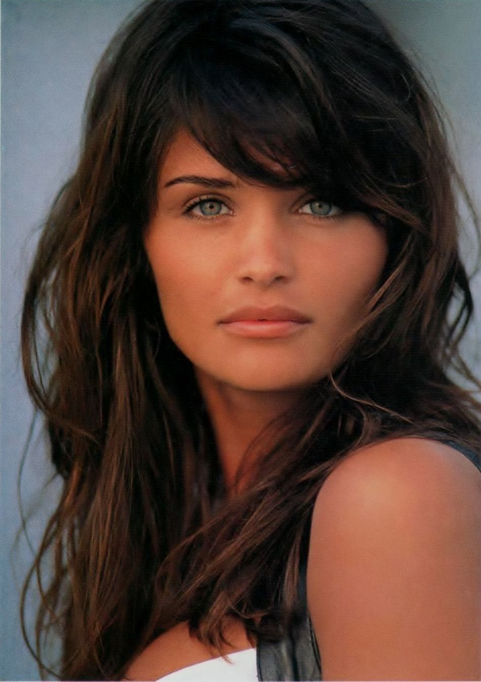 hair styles with fringe helena christensen hair green great bone 5051