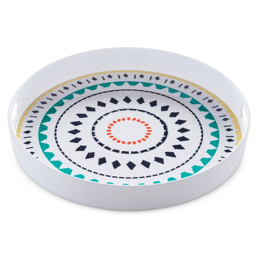 Decorative Plastic Serving Trays Brilliant Plastic Round Serving Tray Yellowimage 1 Of 3 Sweet Home Inspiration Design