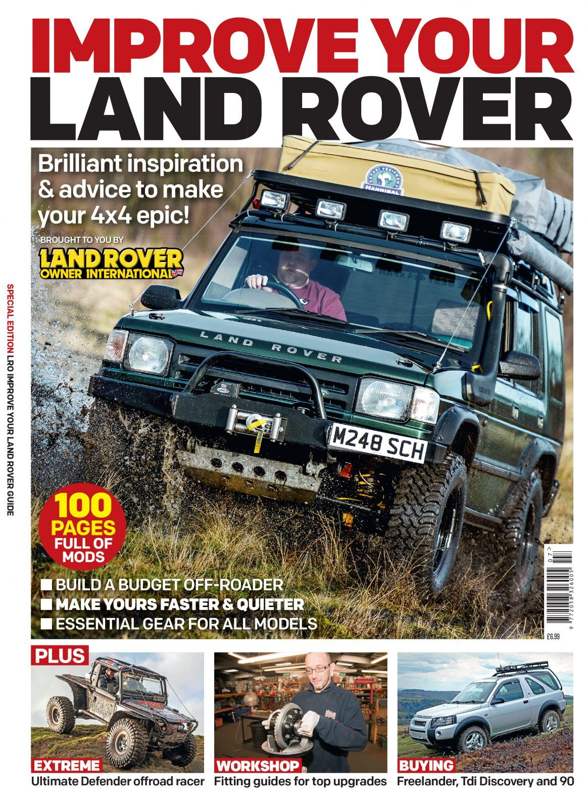 This Special Edition is packed with brilliant inspiration to make your 4x4 epic! Brought to you by Land Rover Owner magazine, the worlds biggest selling Land Rover mag  100 pages full of mods! Build a budget off-roader, make yours faster and quieter, essential gear for all models!  Plus: Extreme - the eltimate defender off roader; Workshop - fitting guides for top upgrades; Buying - freelander, TDi Discovery and 90
