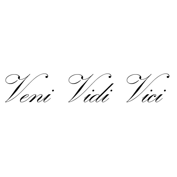 Latin For I Came I Saw I Conquered Tattoo Quotes Baby