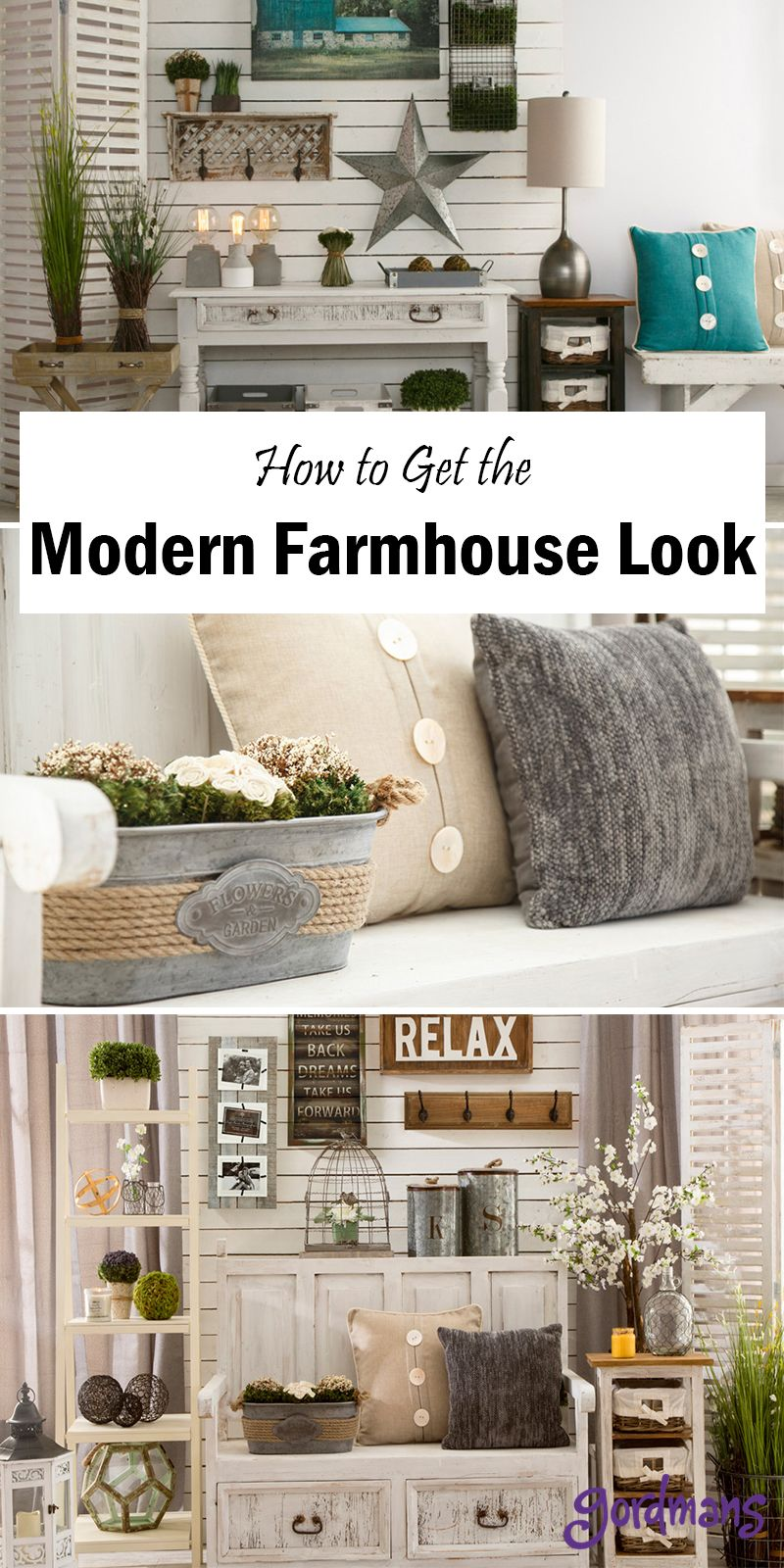 Find ways to decorate your home with modern farmhouse decor this style is beautiful for all homes and will add that country look to any room