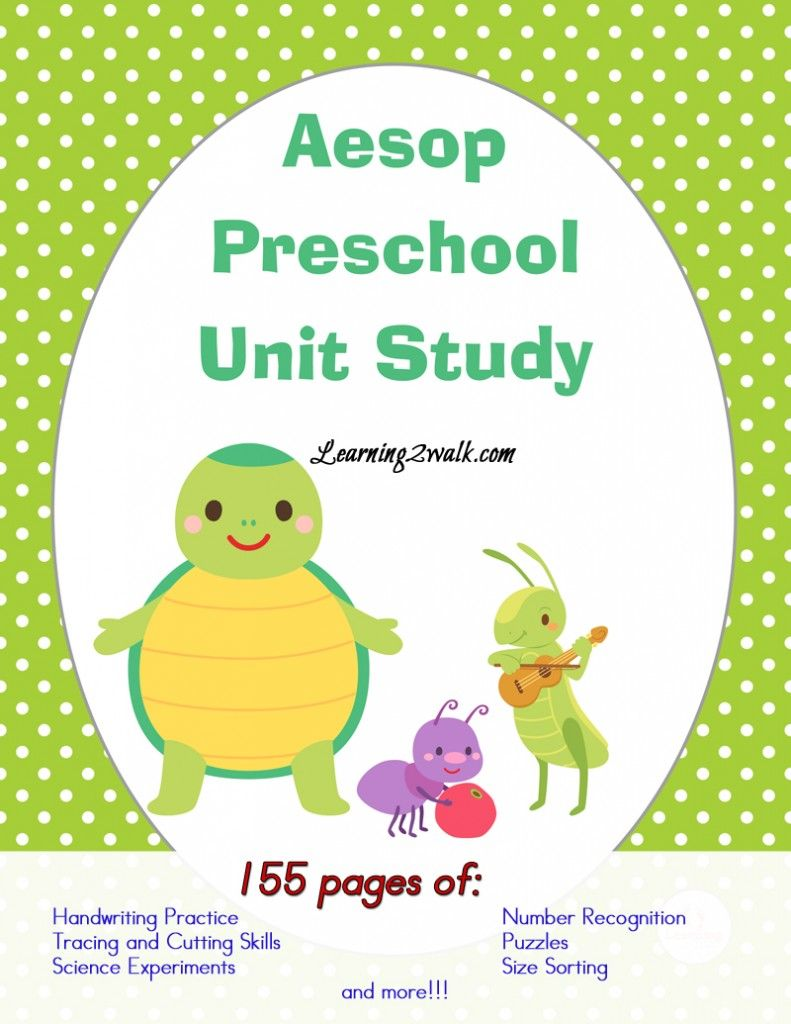 Unit study colors preschool - Aesop Preschool Unit Study