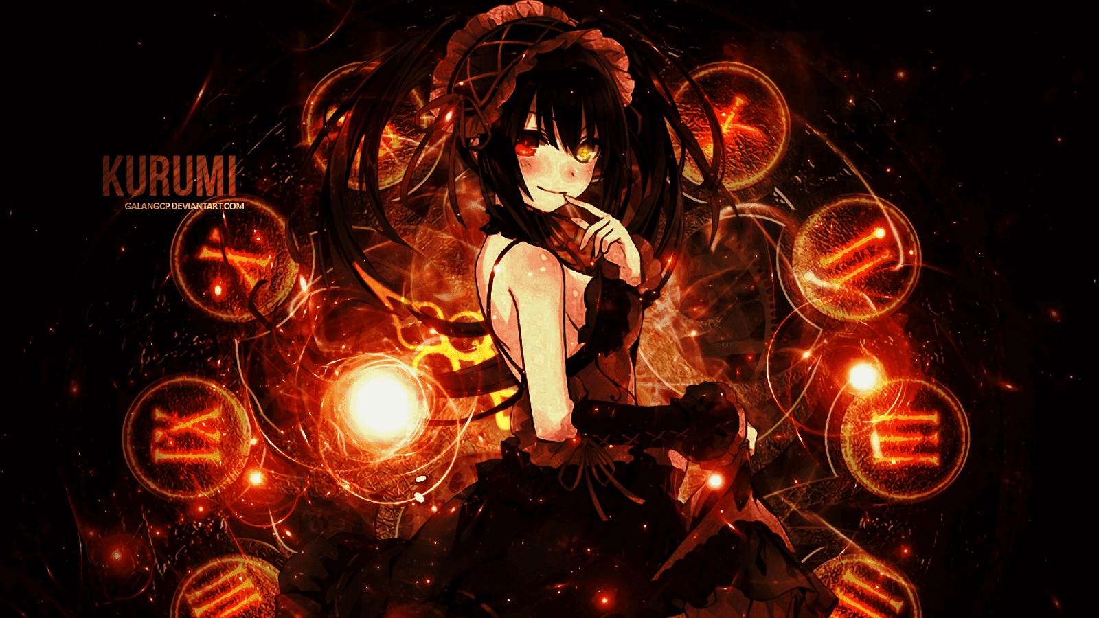 Pc Kurumi Tokisaki Gadis Anime Seni Anime Gadis Animasi