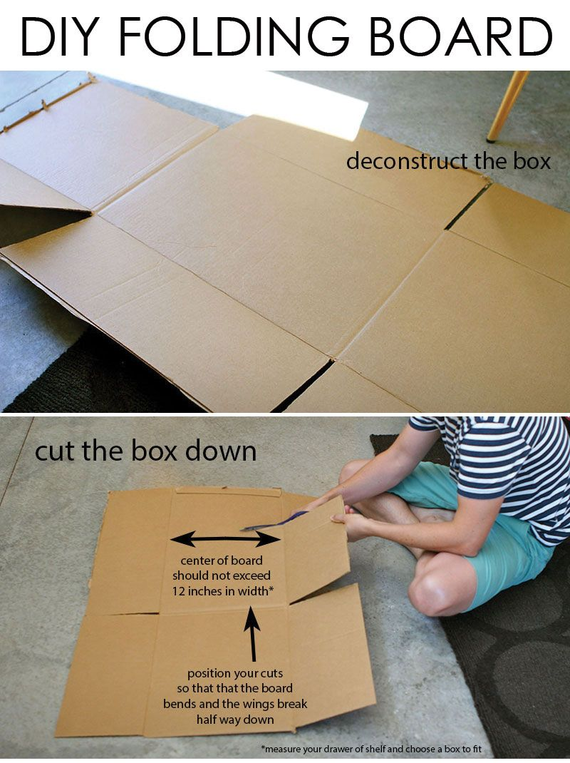 how to make and use your own folding board makes folding clothes fast and tidy organizing. Black Bedroom Furniture Sets. Home Design Ideas