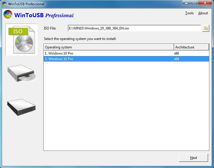 WinToUSB 5.1   Price	Free  Version	5.1  Release Date	February 19, 2020  Operating Systems	Windows 7,...