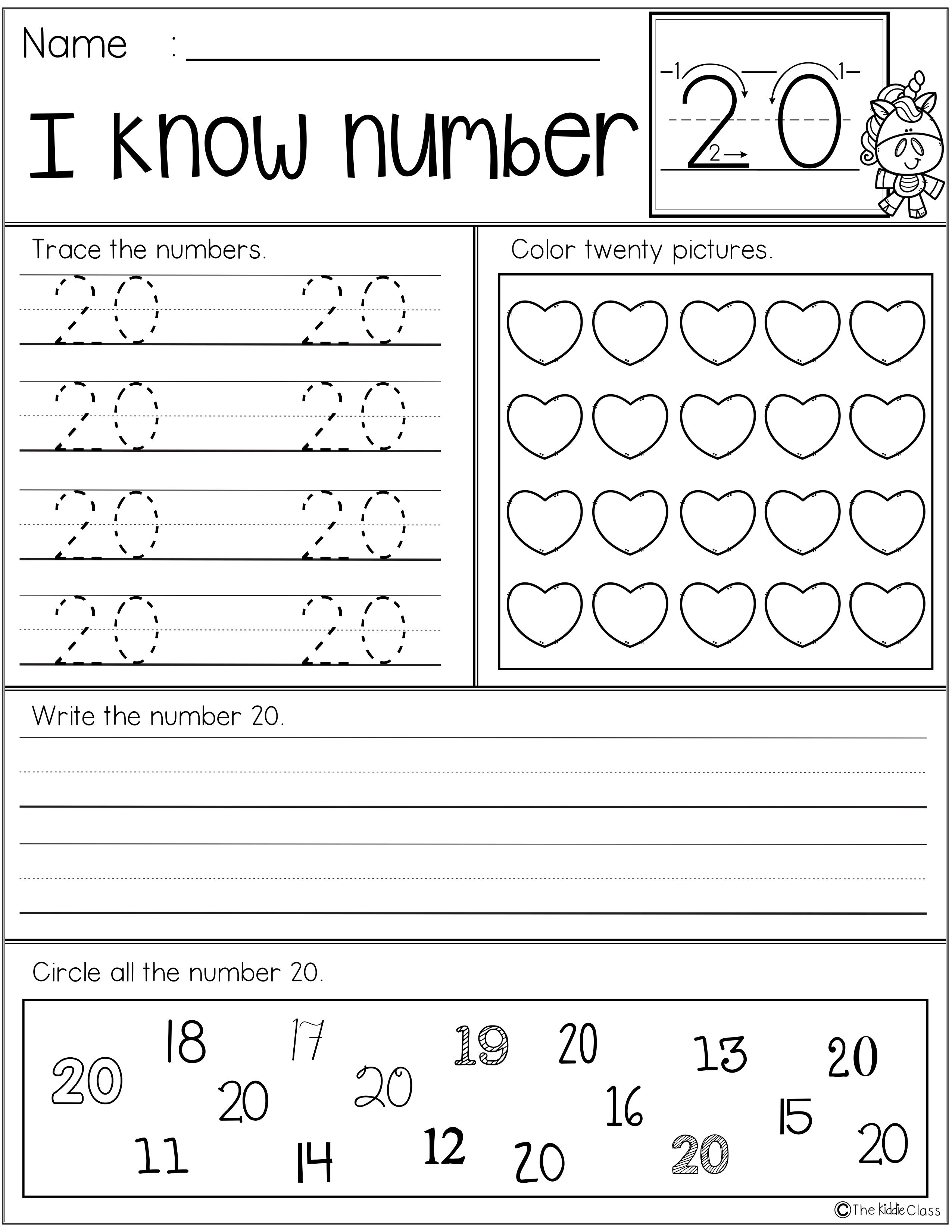 picture about Kindergarten Packet Printable identify Free of charge Quantity Teach Printables The Kiddie Cl Merchandise