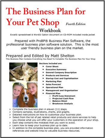 The Business Plan For Your Pet Shop  Pet Sanctuary Dream
