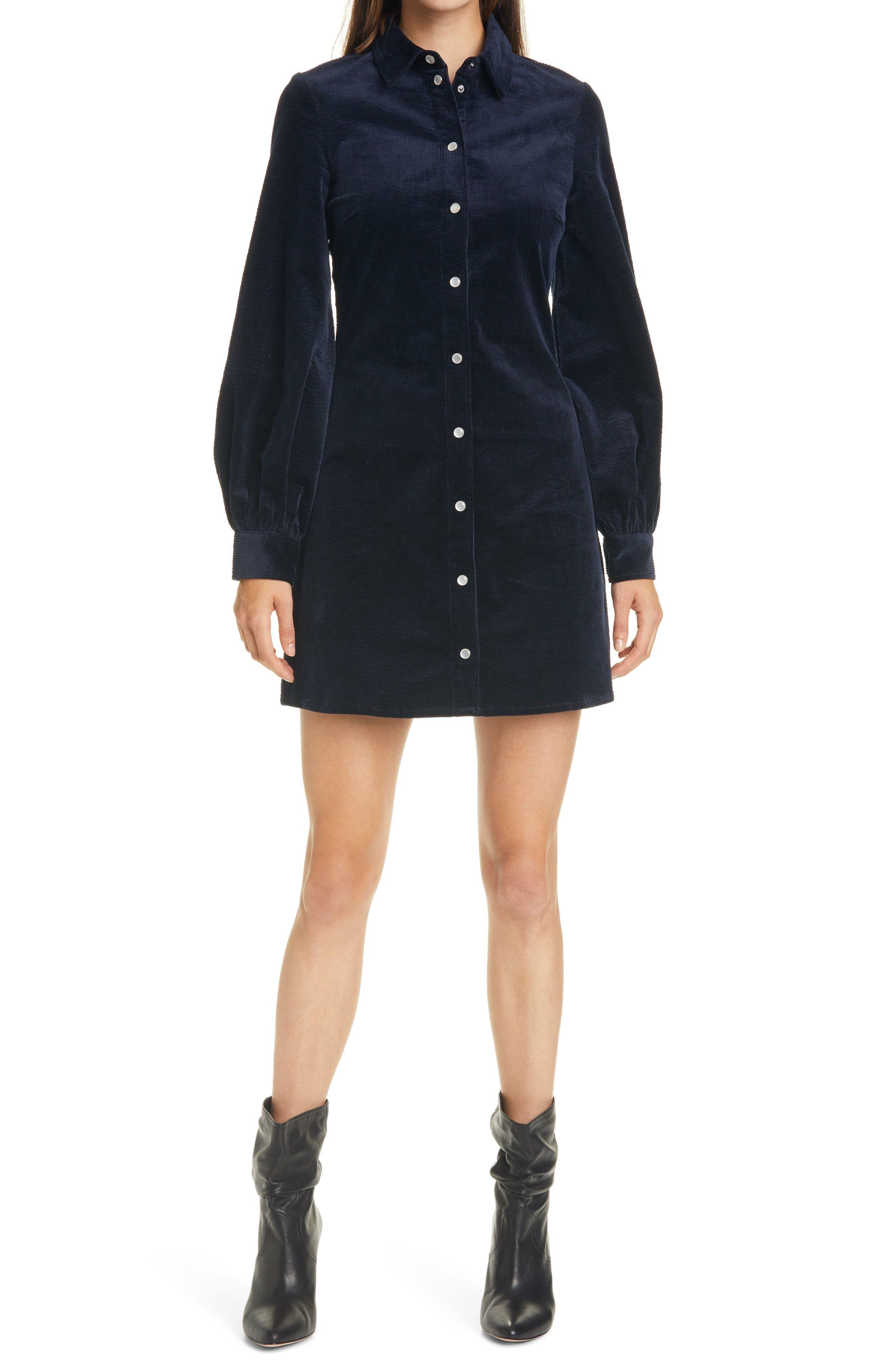 Samsoe Samsoe Moonstone Long Sleeve Corduroy Dress Nordstrom Corduroy Dress Outfit Corduroy Dress Classic Shirt Dress [ 4048 x 2640 Pixel ]
