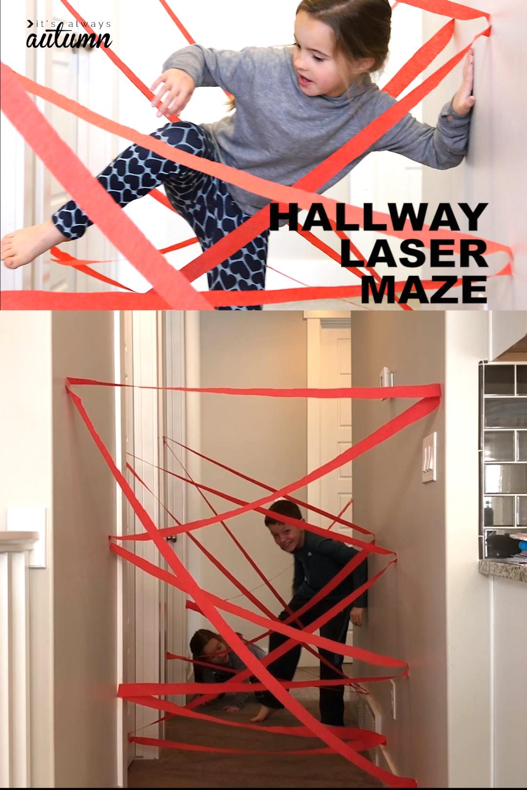 Photo of DIY Flur Laser Labyrinth Indoor-Spaß für Kinder – Es ist immer Herbst