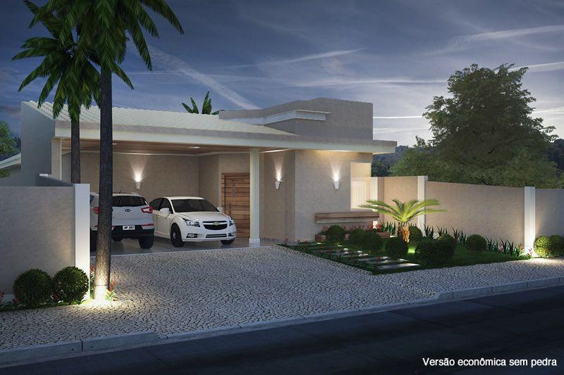 Planta de casa com telhado aparente arquitetura for Fotos de casas modernas com telhado aparente