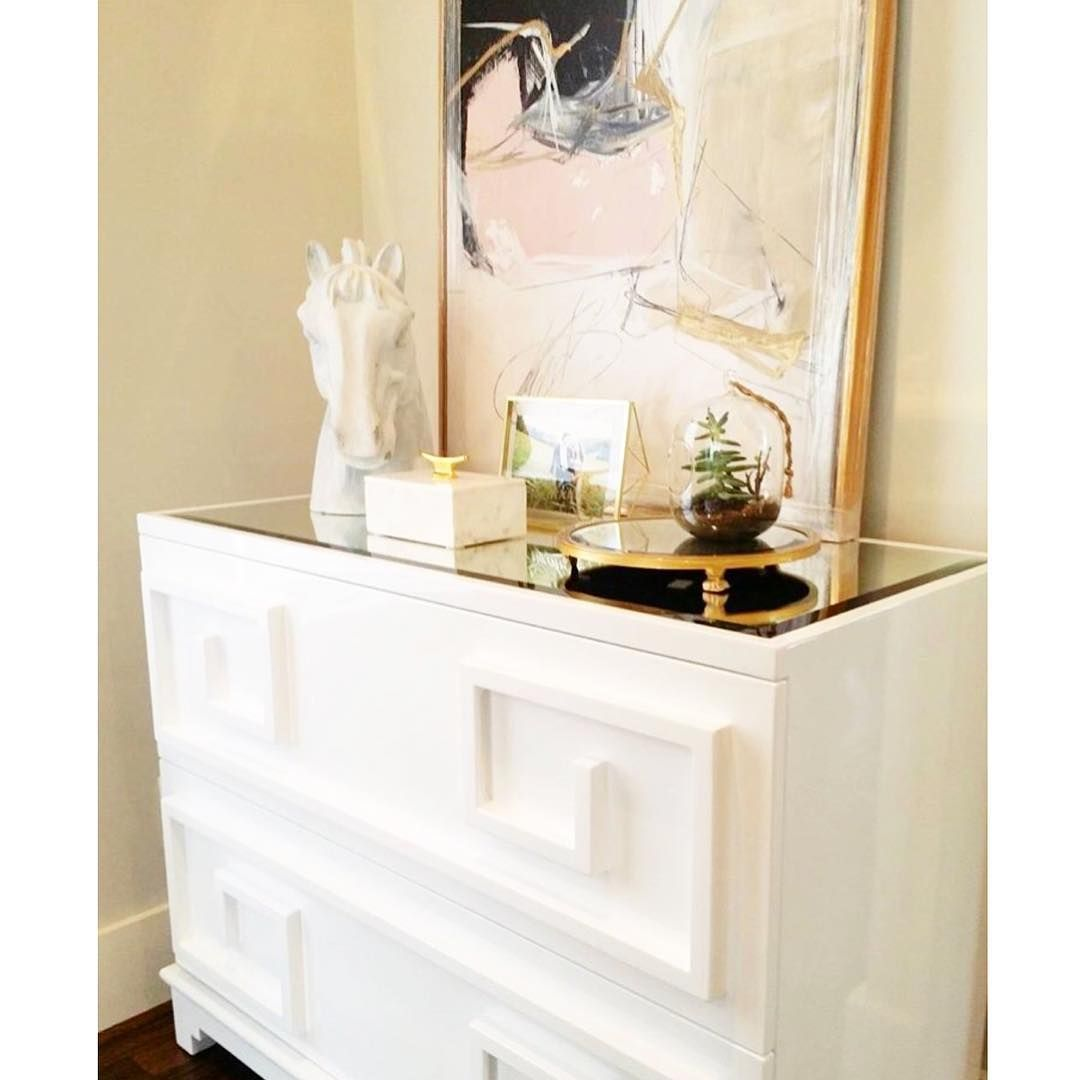 Modern Glam Dresser Styling by Andria Fromm of Redo Home and Design