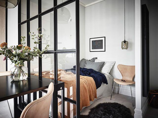 Kawalerka nr studio apartments bedroom small apartment bedrooms tiny also rh pinterest