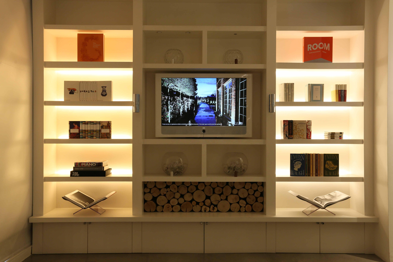 Uses Led Lighting For Uplighting Shelves Could Be Added To The Back Of The Wood Shelf Https Www Johncu Shelf Lighting Bookshelf Lighting Led Shelf Lighting