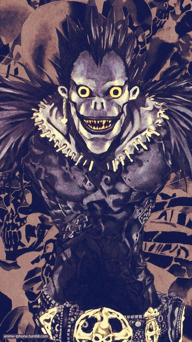 Death Note ryuk iPhone Wallpaper Anime iPhone Wallpapers