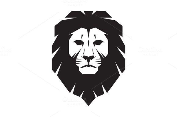 Lion Head Logo Vector Sign Lion Head Logo Lion Illustration Lion Silhouette