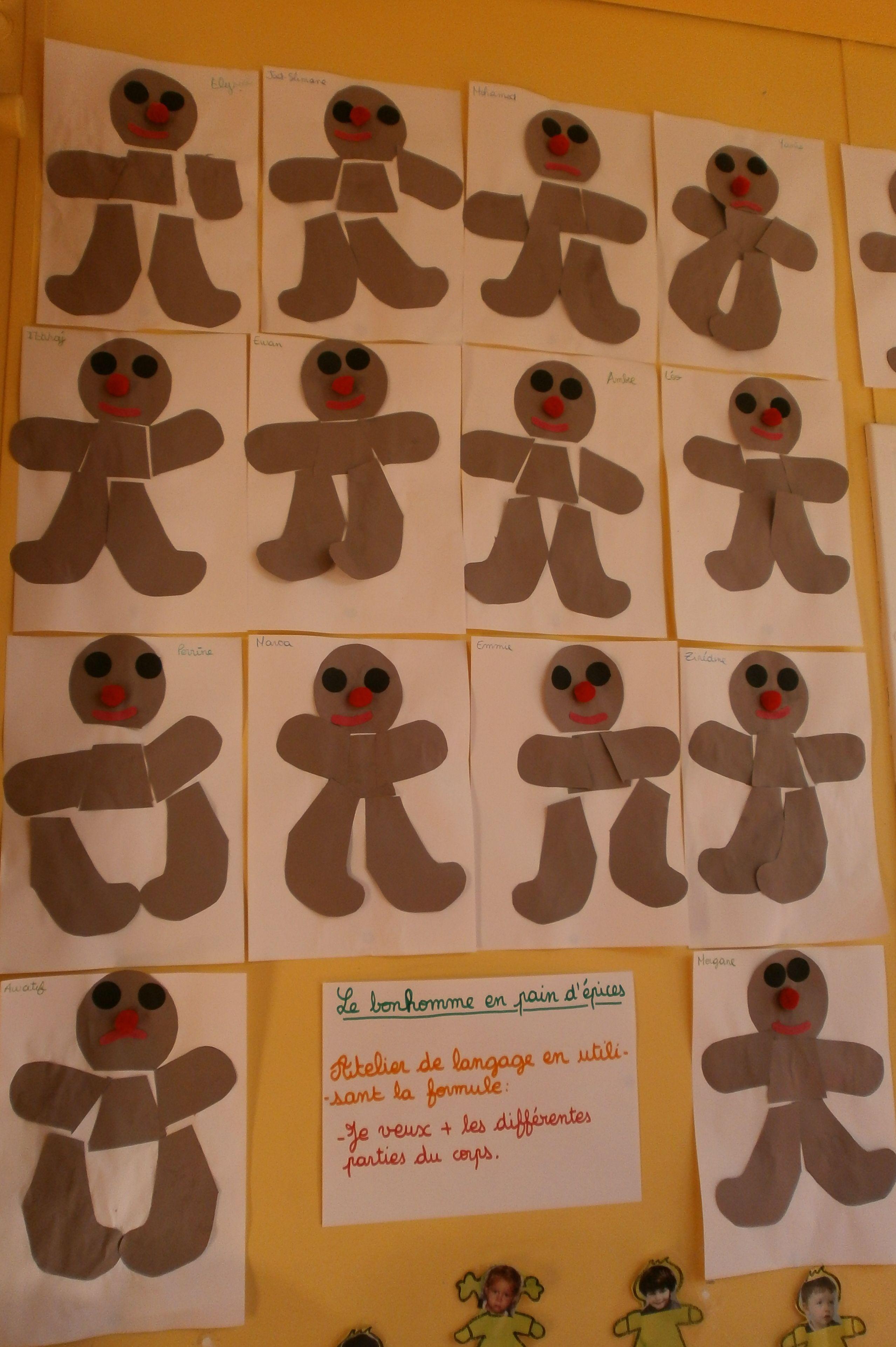 Bonhomme Ps Kleeschen Petite Section Kindergarten Et Preschool