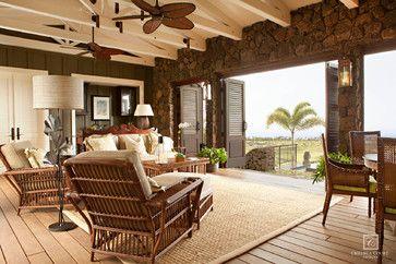 Hawaiian Island Plantation Style Custom Home Lots Of Open