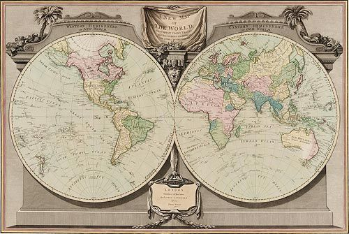 A new map of the world 1800 by w palmer with captain cooks a new map of the world 1800 by w palmer with captain cooks gumiabroncs Choice Image